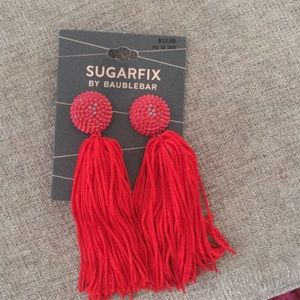 Fun red earrings!